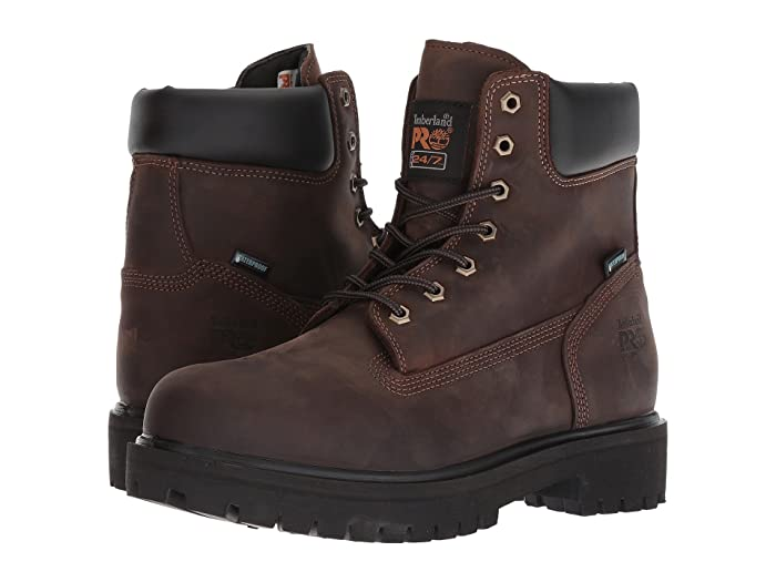 Timberland PRO  Direct Attach 6 Soft Toe (Brown Oiled Full-Grain Leather) Mens Work Lace-up Boots