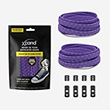 Xpand No Tie Shoelaces System with Elastic Laces One Size Fits All Adult and Kids Shoes Reflective - M