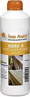 HIDRO A de Tecno Prodist - 1 Litro - Impermeabilizante Transparente al agua, Hidrofugante Incoloro para pered, tejado, fachada, muro, teja, ladrillo y piedra. (A Rodillo, brocha o pulverizador)