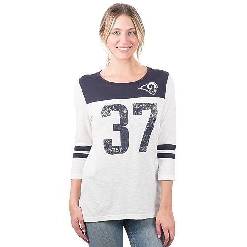 ICER Brands NFL Women s T-Shirt Vintage 3 4 Long Sleeve Tee Shirt 77fb02463