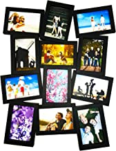 BestBuy Frames Large Puzzle Style Wall Hanging Collage Picture Frame, Fits Standard 4x6 Inch Photos, 12 Opening 12-4x6, Perfect Photo Frame for Weddings, Reunions, Birthday & Family Picture