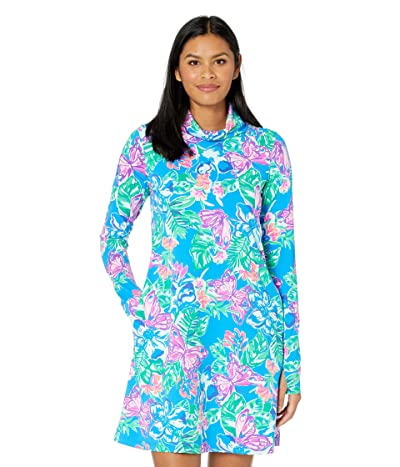 Lilly Pulitzer Lilshield UPF 50+ Dress (Pundy Blue Isle Be Back) Women