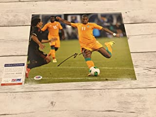 Didier Drogba Signed Ivory Coast 11x14 Photo COA Chelsea Autographed a - PSA/DNA Certified - Autographed Soccer Photos