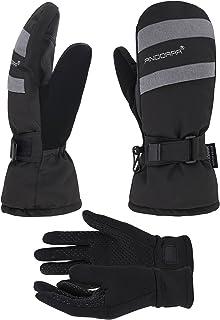 ANDORRA Women's Hyper Tech Touchscreen Mittens with Pockets Optional Light Inner Gloves