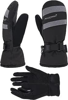 ANDORRA Women's Mittens with Pockets Optional Light Inner Hyper Tech Touchscreen Gloves