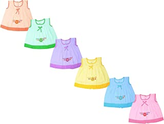 85850c54a Sathiyas Baby Girl's Cotton Embroidered Dresses (asvinf60, 0-3 Months)