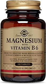 Solgar – Magnesium with Vitamin B6, 100 Tablets