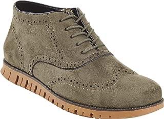 Henry Ferrera Men's Casual Wingtip Brogue Oxford Shoes