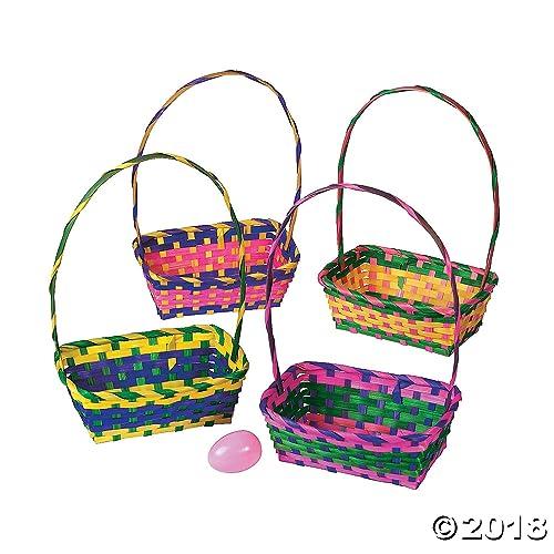 2e8cf78cb9ad58 Multicolor Rectangular Easter Baskets 1 Dozen