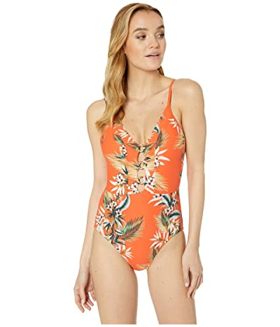 Seafolly Ocean Alley Maillot One Piece Swimsuit (Tangelo) Women