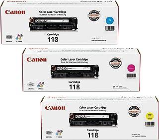 Canon 118 3/pk Laser Cartridge, Yellow (2659B001AA) Magenta (2660B001AA,2661B001AA Cartridge Model 118 Cyan