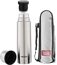Milton Plain Lid 1000 Thermosteel 24 Hours Hot and Cold Water Bottle, 1 Litre, Silver