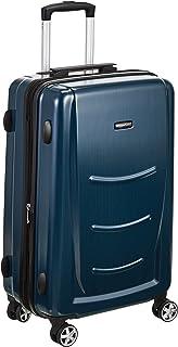 AmazonBasics Hardshell Spinner Luggage, Navy Blue