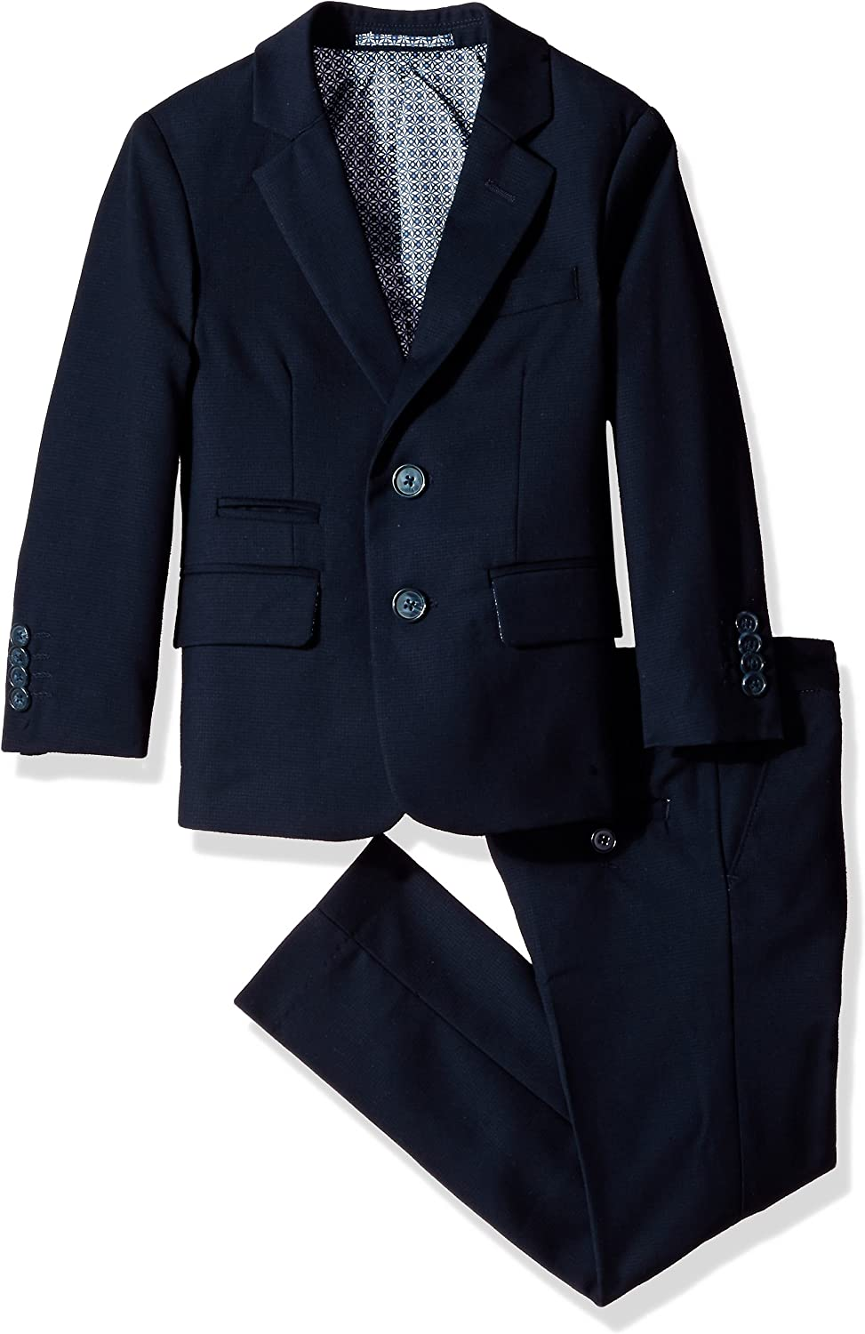 Isaac Mizrahi Max 61% OFF Boys' Textured 2pc Slim Suit Fit Special price for a limited time Solid