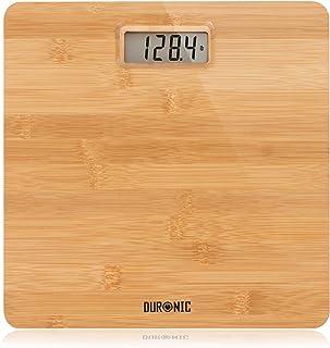 Duronic BS503 Bilancia pesapersone digitale | Capacità fino a 180 kg | Bilancia digitale con schermo LCD | Design in bambù...