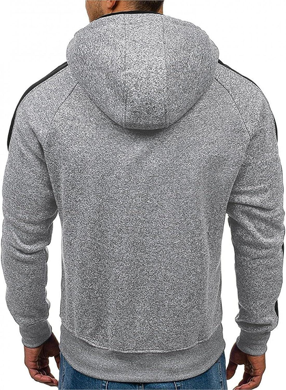 Men's Hoodies Zip Up Lightweight Mens Fall Winter Casual Long Sleeve Sports Outwear Hooded Sweatshirts Jackets Pockets