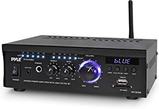 Wireless Bluetooth Home Stereo Amplifier - 2x120 Watt Power Amplifier Home Audio Bluetooth Receiver System W/Blue Led Disp...