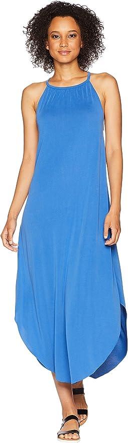 Mckenna High Neck Sandwashed Dress