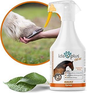 Ida Plus - Mauke Spray für Pferde 500 ml - Mauke Mittel gegen Strahlfäule & Fesselekzem - Zur einfachen & schmerzfreien Haut- & Hufpflege - schnell & zuverlässig – hautfreundlich & regenerierend