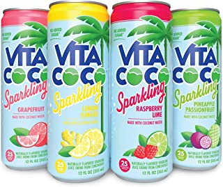 Vita Coco Sparkling Water, Sampler Pack | Boosted with Coconut Water | 25 Calories | No Added Sugar | Full ...