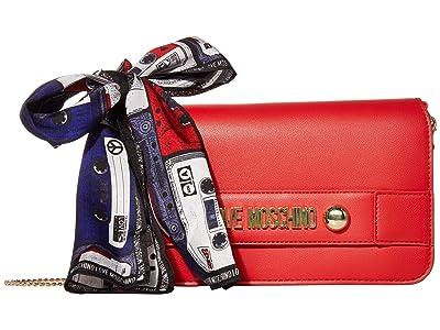 LOVE Moschino Lettering Clutch/Crossbody (Red) Handbags