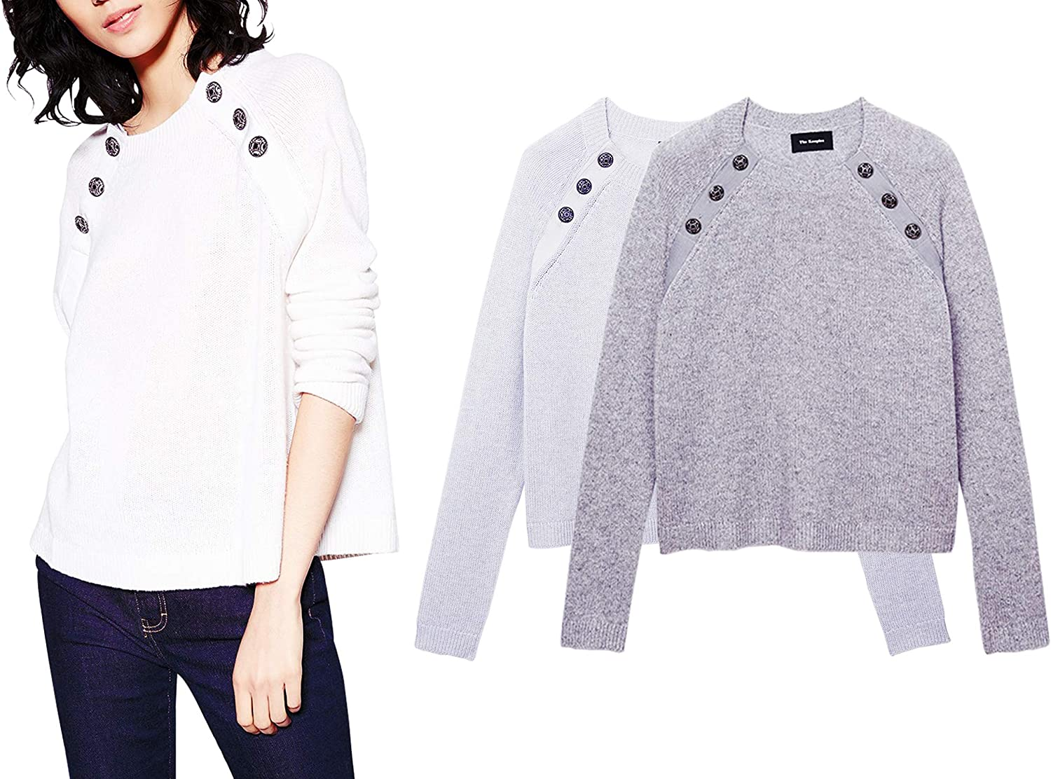 YISHI Fashion Women's Clothes Simplicity Style Top Button Knitted Sweater