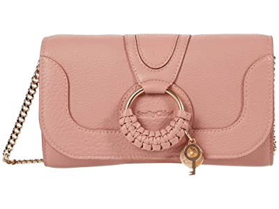 See by Chloe Hana Long Wallet with Flap (Dawn Rose) Handbags