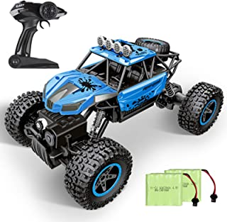 RC Car, SHARKOOL 2020 Updated 2.4Ghz 4WD 1/16 Scale RC Trucks Rc Crawlers Remote Control Car with...