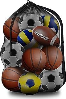 BROTOU 1 Pack Extra Large Sports Ball Bags Mesh Ball Bag...