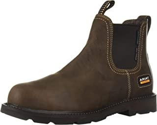 حذاء عمل ARIAT Men's Groundbreaker Chelsea مقاوم للماء صلب عند الأصابع بتصميم غربي