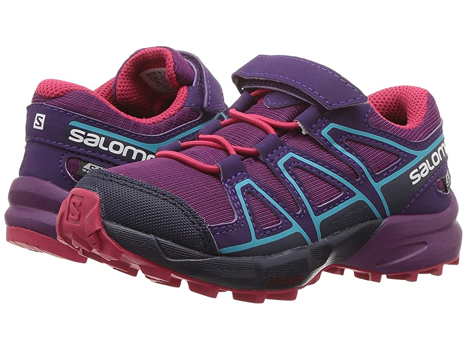 Salomon Kids Speedcross CSWP (Toddler/Little Kid) (Grape Juice/Evening Blue/Blue Bird) Girls Shoes
