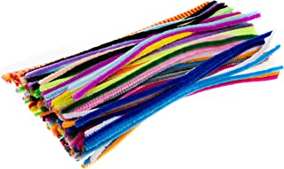 Edukit Pack of 120 Pipe Cleaners - in Assorted Colours 28cm x 6mm, Brightly Coloured Radiant Craft Multi-Purpose Wire Pipe Cleaners.
