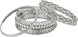 Six Piece Textured Bangle Set