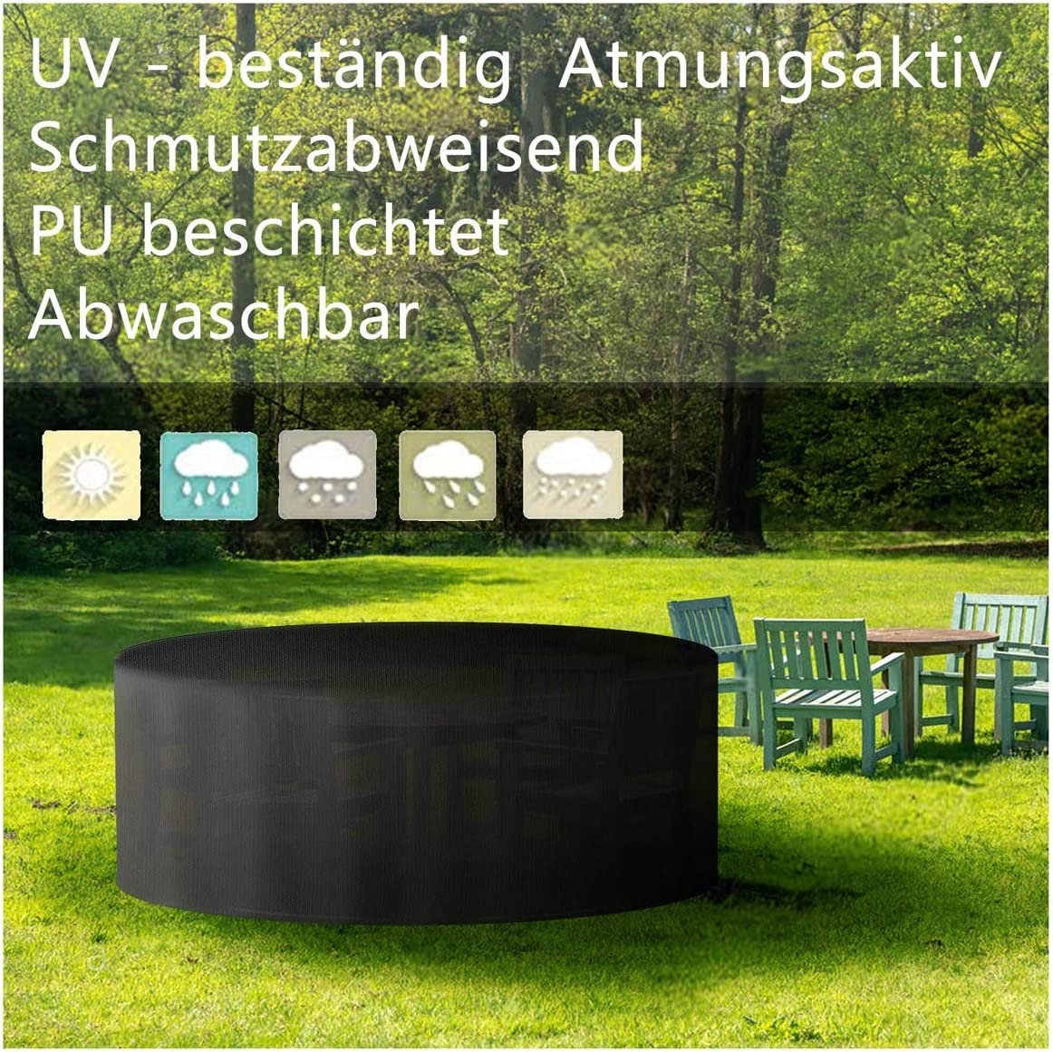 Garden Furniture Don't miss the campaign Set Cover Round Patio Table New products world's highest quality popular for Outdoor