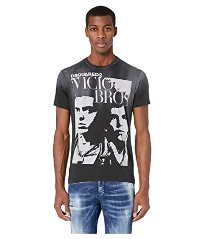 DSQUARED2 Military Punk Cigarette Fit T-Shirt (Black) Men