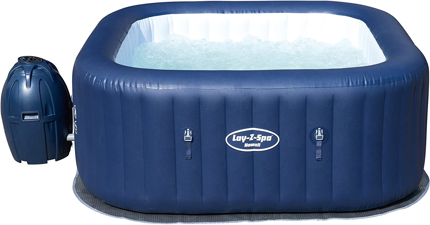 Lay-Z-Spa Hawaii Hot Tub Airjet 4 years warranty Translated Spa 4-6 Pers Inflatable Square