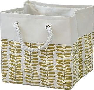 T&T Homewares, Storage Bin, Laundry basket, Canvas Fabric Collapsible Organizer Basket for Laundry Hamper, Toy, Kids, Pets...