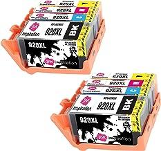 INK INSPIRATION® Reemplazo para HP 920 920XL Multipack 8 Cartuchos de Tinta Compatible con HP OfficeJet 6000 6500 6500A 7000 7500A, Negro/Cian/Magenta/Amarillo