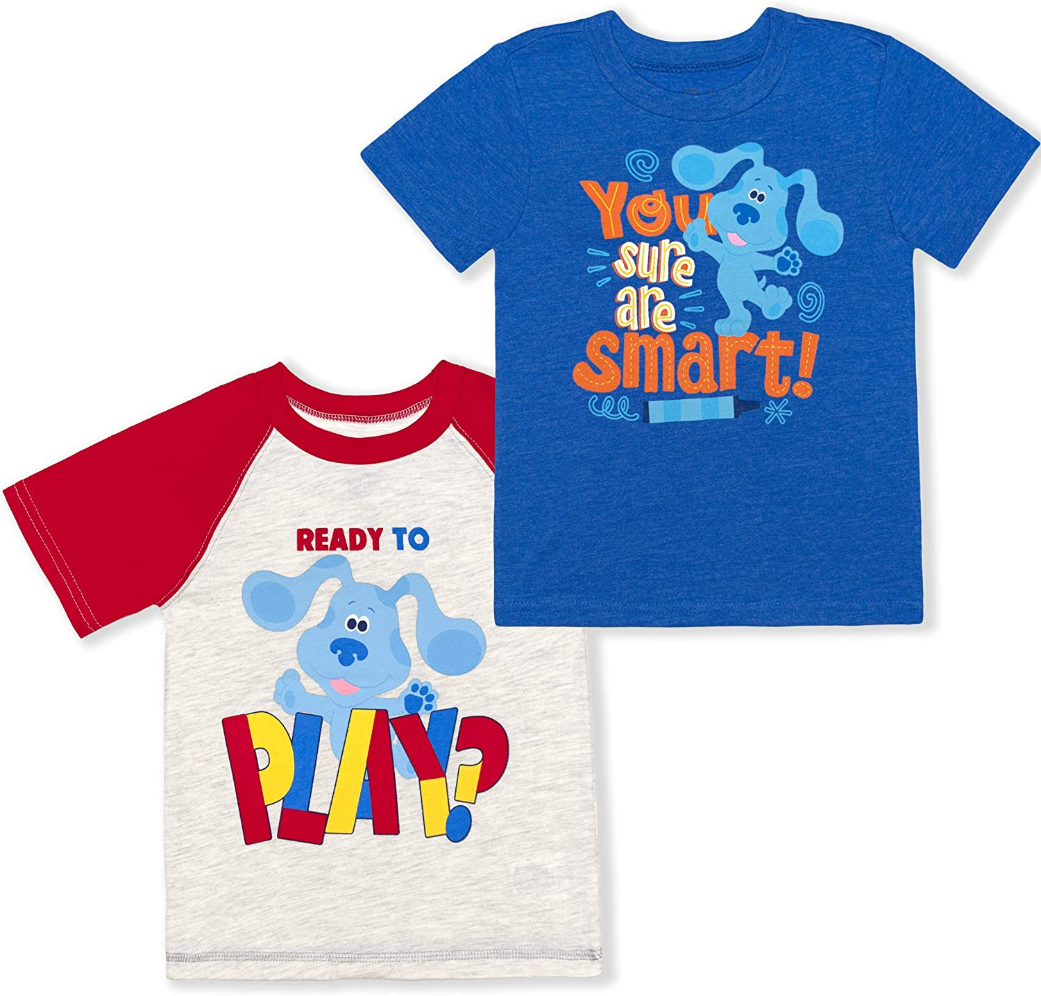 Nickelodeon Boy's 2-Pack Blue's Clues Ready to Play Short Sleeve Graphic T-Shirt Set