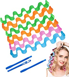 Seedware - 30 cm Hair Curlers, Spiral Curls Heatless Hair Curlers Styling Kit with 2 Pieces Styling for Most Kinds of Hair...