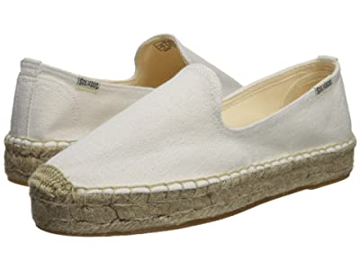 Soludos Platform Smoking Slipper (White 2) Women