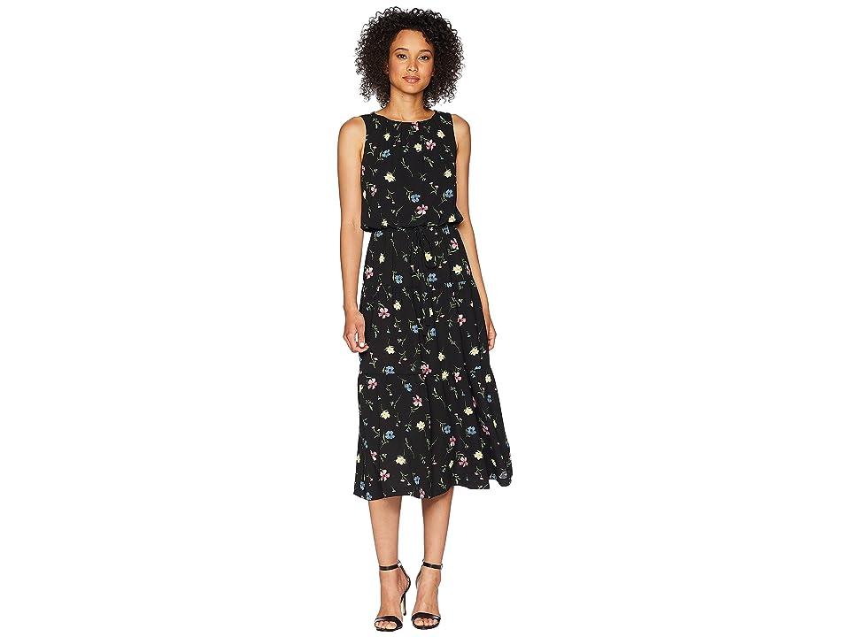 LAUREN Ralph Lauren Orena Sleeveless Day Dress (Black Multi) Women
