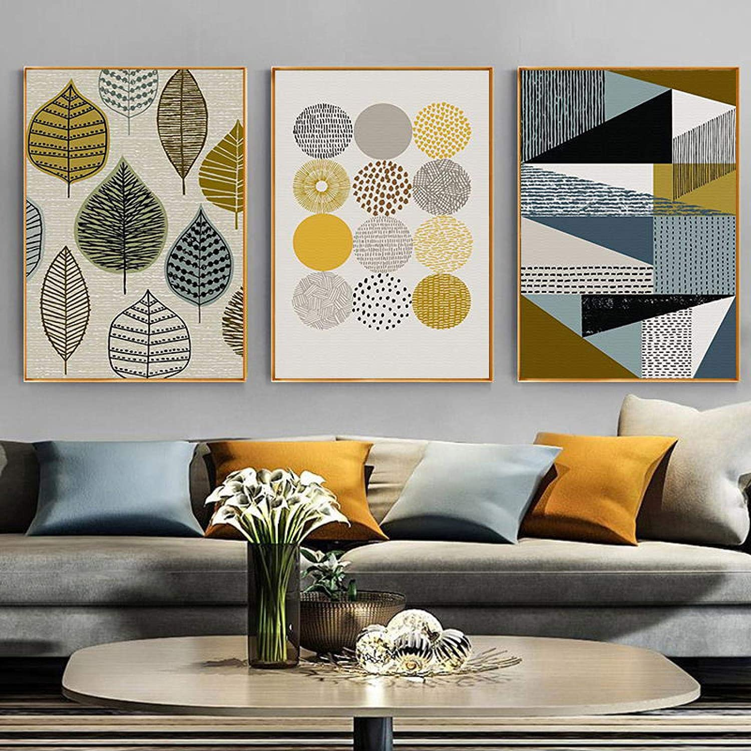 Cheap SALE Start Minimalist Wall Art Plant Leaves Geometric 2021new shipping free shipping Abstract Canvas Paint