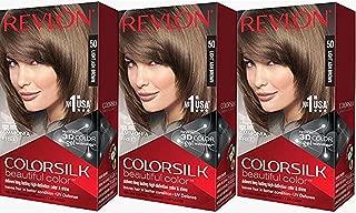 Revlon Colorsilk Beautiful Color, Light Ash Brown, 3 Count