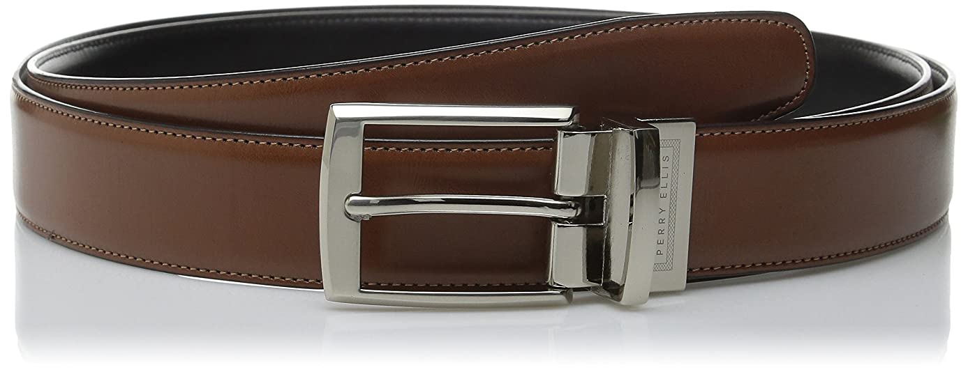 Perry Ellis Big and Tall Portfolio Men's Reversible Tan Amigo Big & Tall Belt