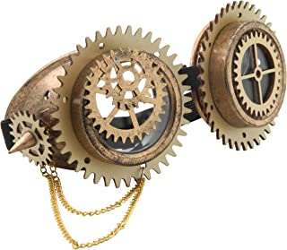 grinderPUNCH Steampunk Fashion Goggles | Victorian Style Costume Welding Glasses