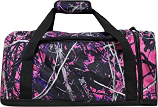 "Muddy Girl Pink 19"" Duffel Overnight Carry on Bag with Shoulder Strap Outside Pocket"