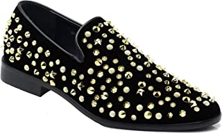 Enzo Romeo SPK21 Men's Vintage Sparkle Dress Loafers Slip On Fashion Shoes Classic Tuxedo Dress Shoes