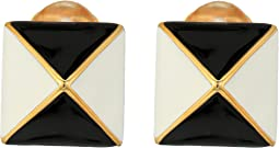 Kenneth Jay Lane Pyramid Earrings