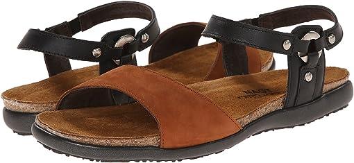 Jet Black Leather/Hawaiian Brown Nubuck